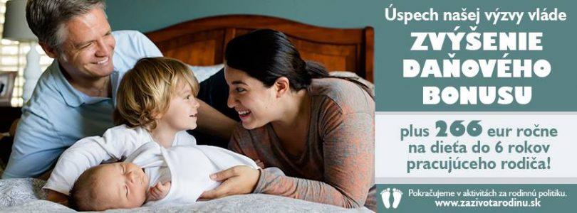 Pracujeme pre rodiny a ich podporu.